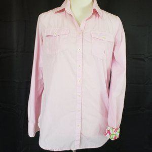 Lilly Pulitzer Resort Fit Button Down. - S